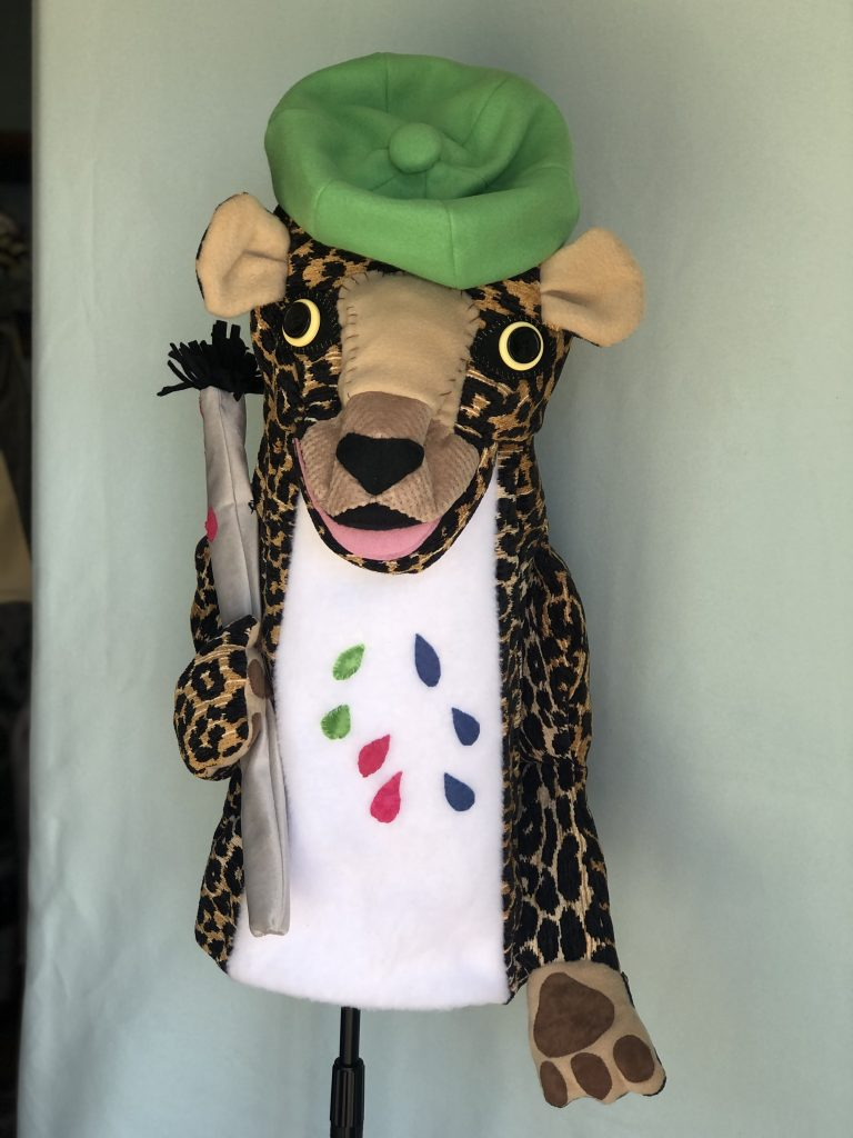 Custom Puppets made to order leopard