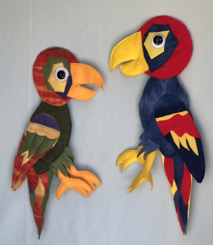 Custom Puppets for Sale parrots